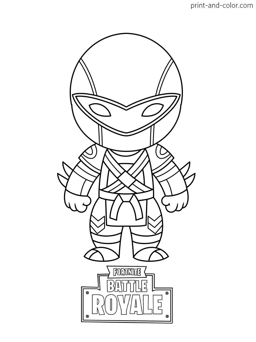 Fortnite Pickaxe Coloring Pages