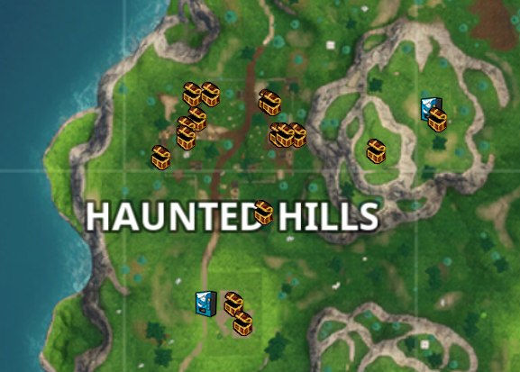 Chest Locations In Haunted Hills Fortnite Insider