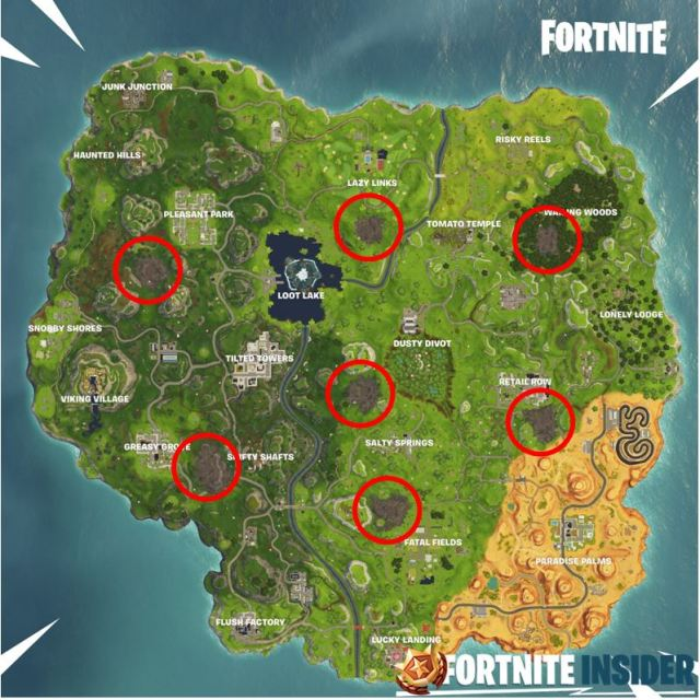 Corrupted Areas in Fortnite Battle Royale