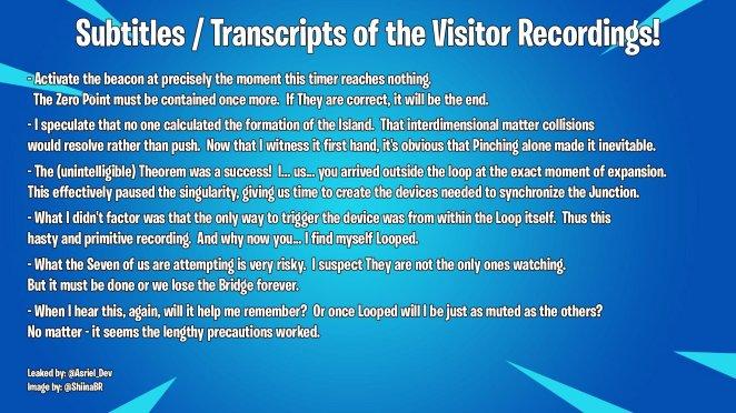 Fortnite Event Transcript