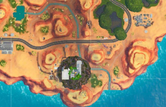 Posizione attuale dell'isola galleggiante