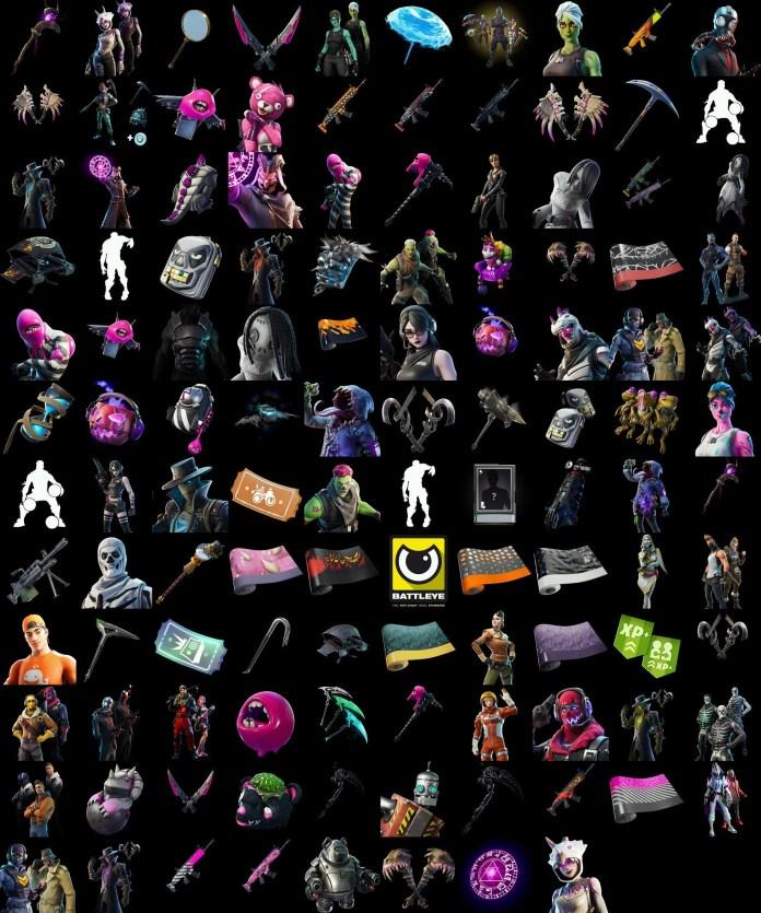 Tutti i cosmetici trapelati Fortnite v11.01