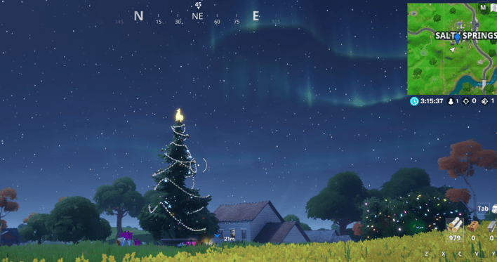 Fortnite Winterfest Holiday Tree Locations - Salty Springs
