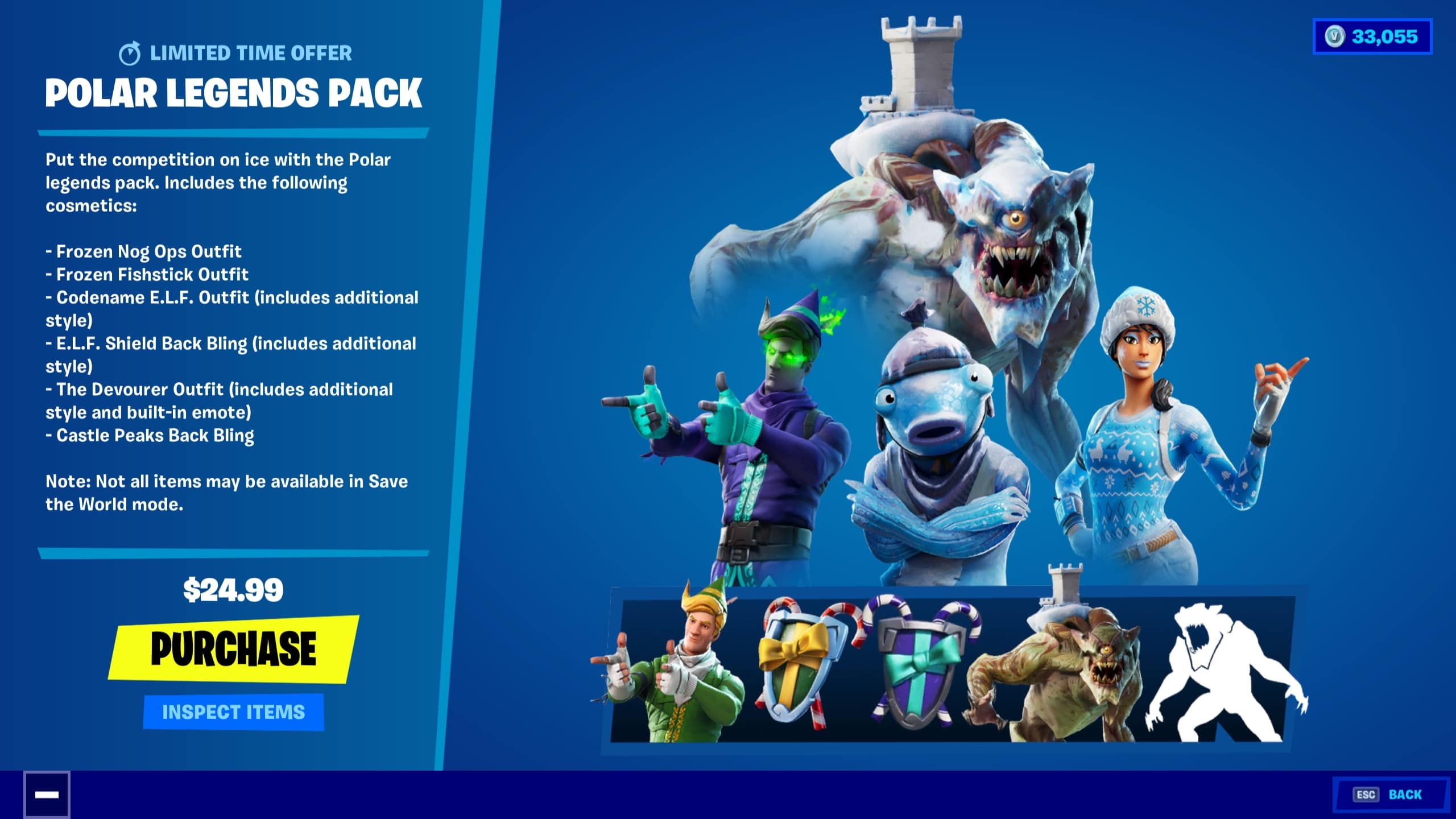Polar Legends Official Fortnite Pack