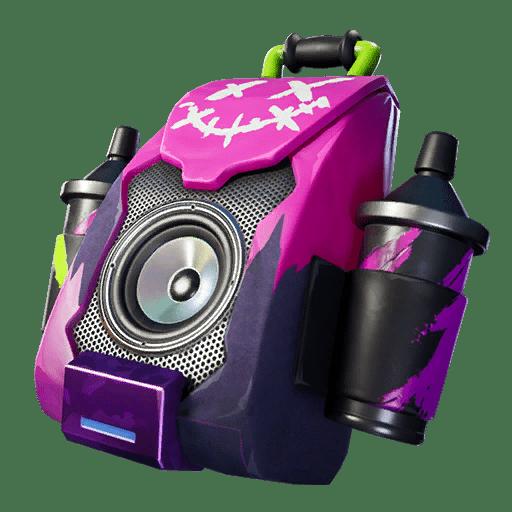 Fortnite v11.40 Leaked Back Bling - Purple Jam