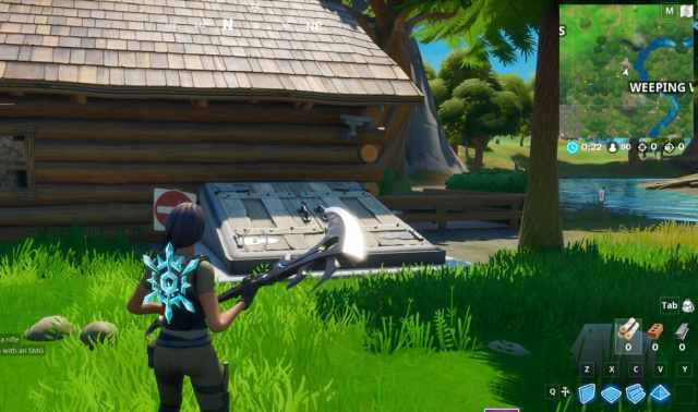 Fortnite Secret Challenges Bunker Location in Weeping Woods