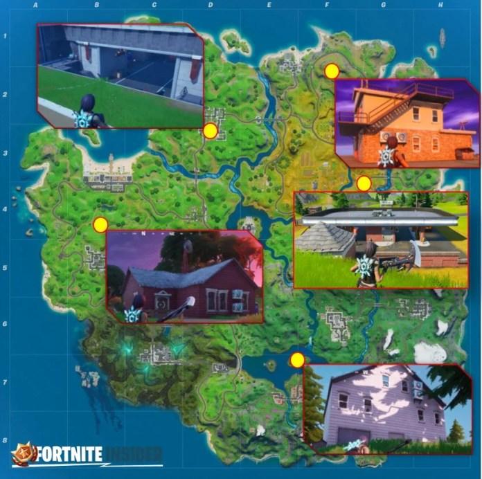 Fortnite Spy Bases Mappa posizione