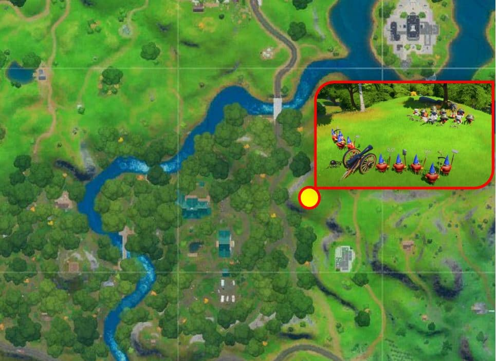 Fortnite Secret Mission - Gnomes and Bears Location