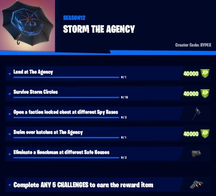 Storm The Agency Fortnite