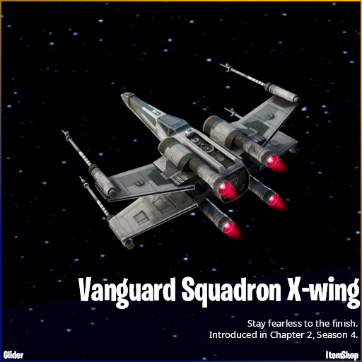 Vanguard Squadron X-wing Fortnite Star Wars Glider