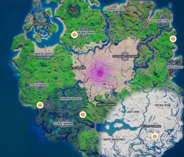 All Snowmando Outposts Locations Fortnite Map
