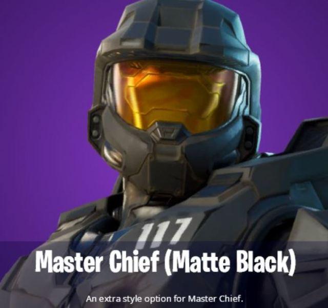 Matte Black Fortnite Style