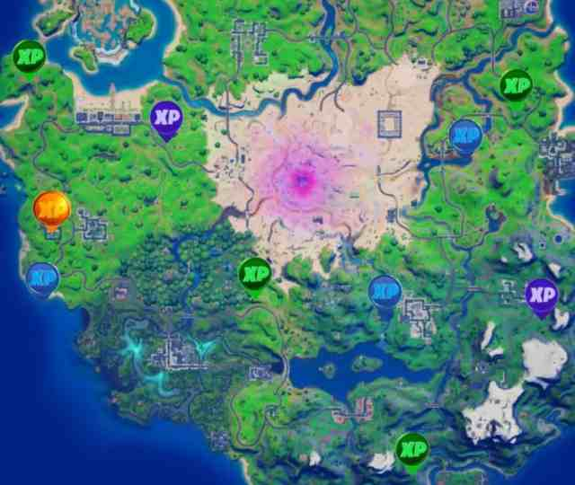 Fortnite week 11 xp coin locations