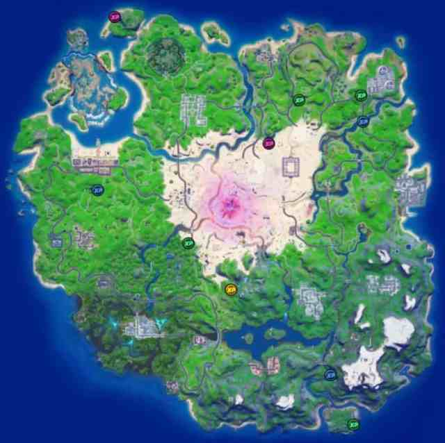Fortnite Week 15 XP Coin Locations Map