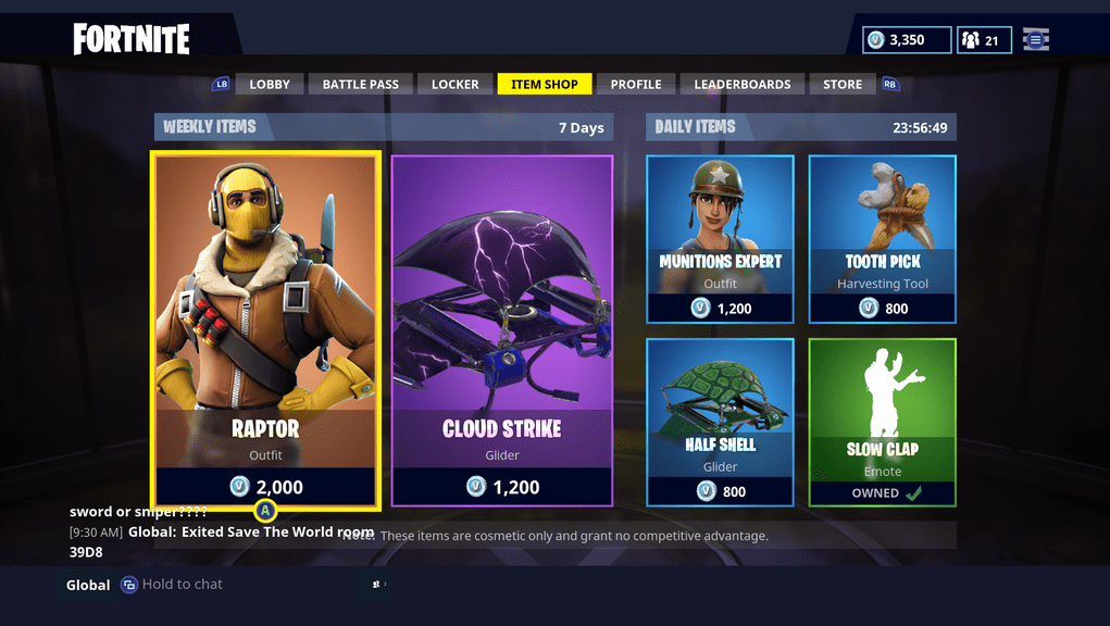 New Weekly Items Now Live Fortnite INTEL