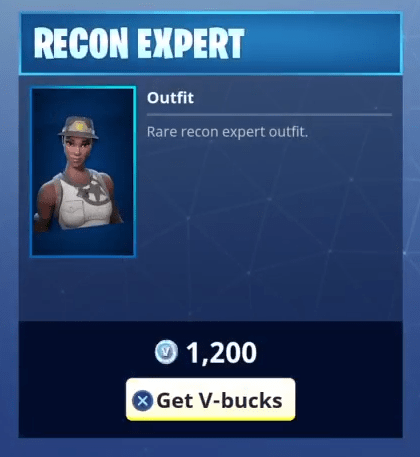 Fortnite Recon Expert Skin Rare Outfit Fortnite Skins