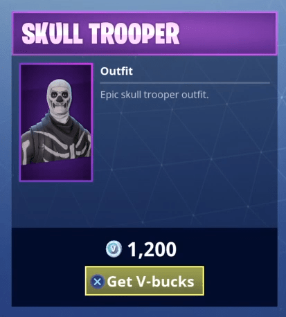 Fortnite Skull Trooper Skin Epic Outfit Fortnite Skins