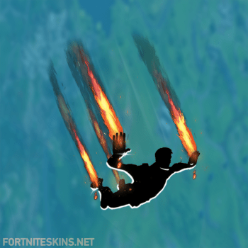 flames skydiving trail