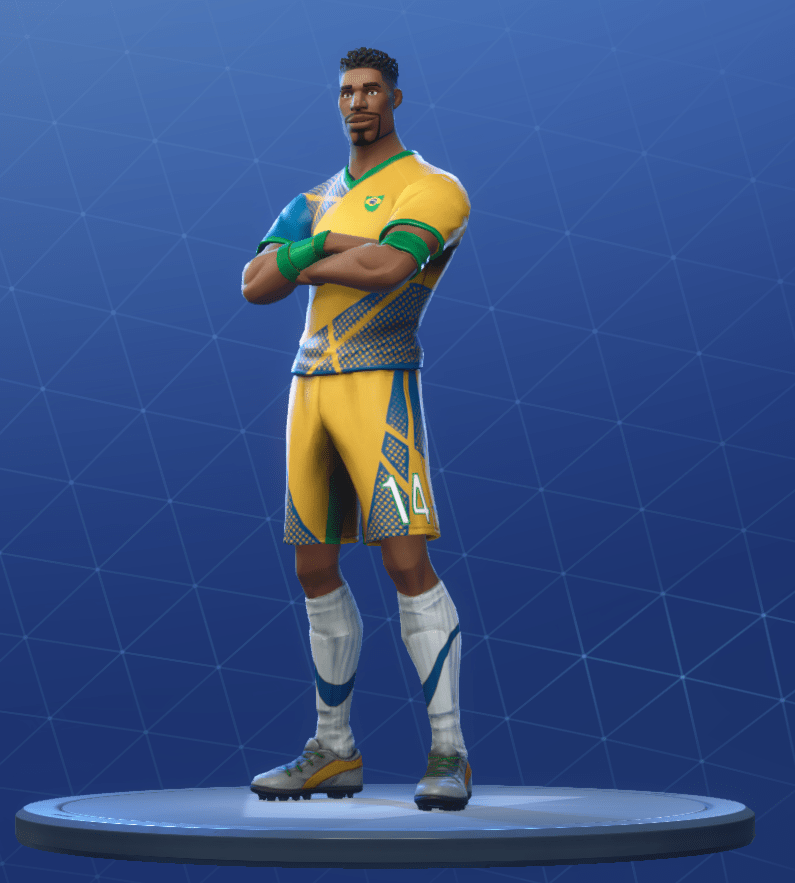 super striker skin 8 - white soccer skin fortnite