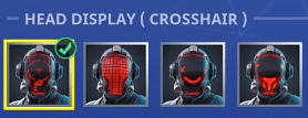 the visitor face customizable