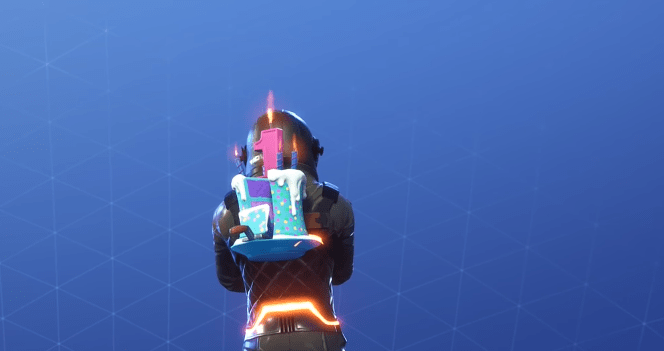 Fortnite Birthday Cake Back Bling Rare Backpack
