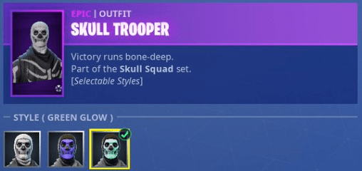 skull trooper selectable styles