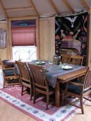 Yurt dining room