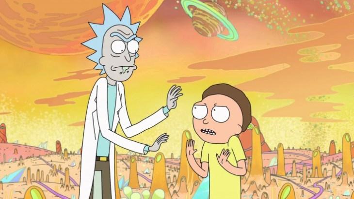 Rick und Morty unterwegs in fernen Galaxien. © Adult Swim