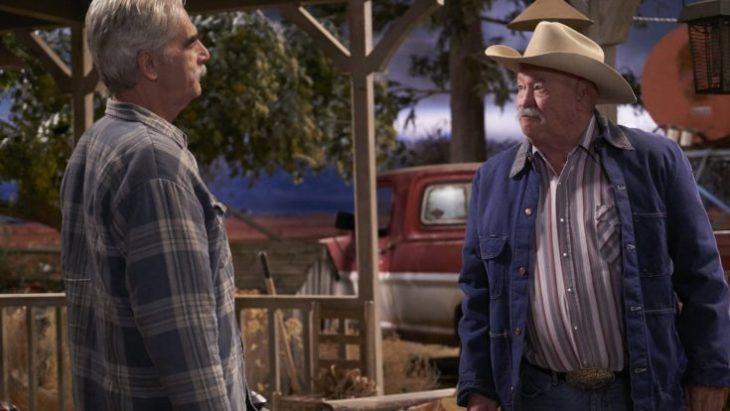 """Sam Elliot und Barry Corbin schenken sich nichts in """"The Ranch"""". Photo by Greg Gayne/Netflix © 2016 Netflix"""