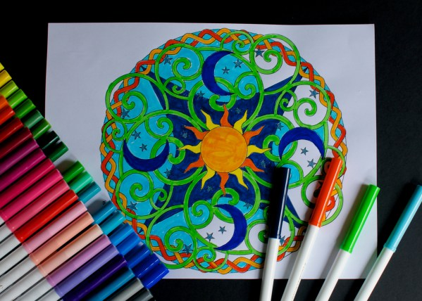 Sun Moon Stars Mandala