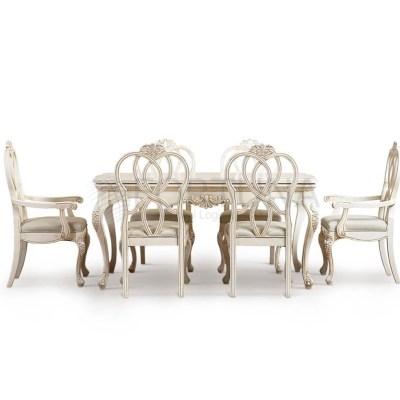 Белая обеденная группа от европейского дизайнера из Китая