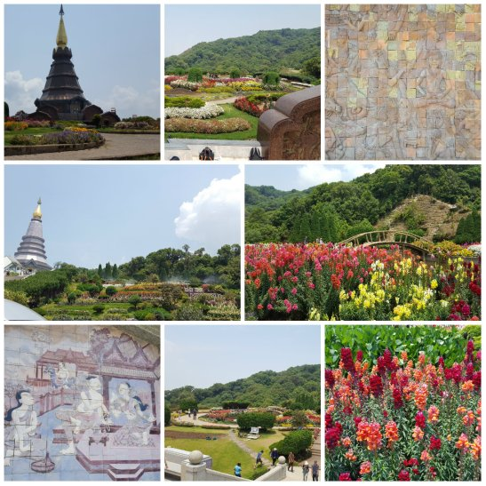 Pagoda collage