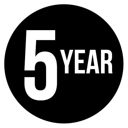 5 Year Limited Manufacturer's Warranty