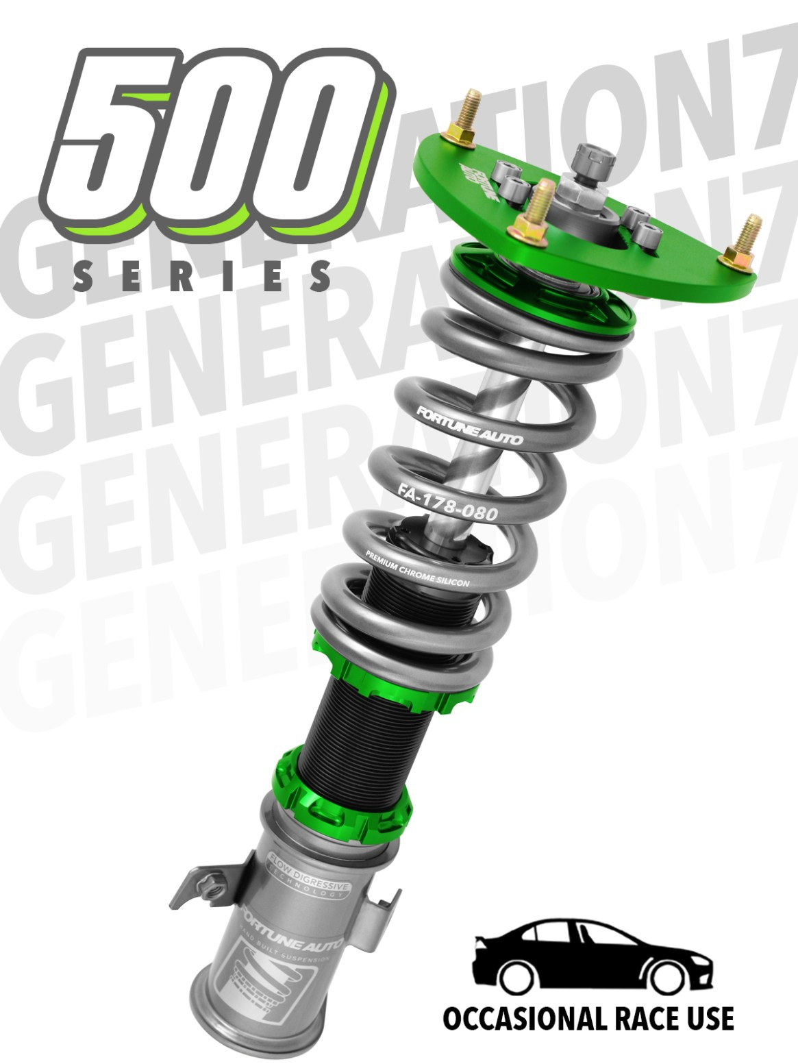 500 series coilovers from fortune auto