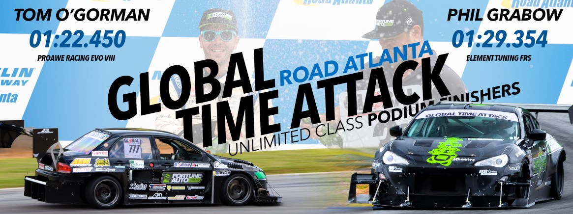 Racing coilovers used in global time attack by Tom O'Gorman and Phil Grabow