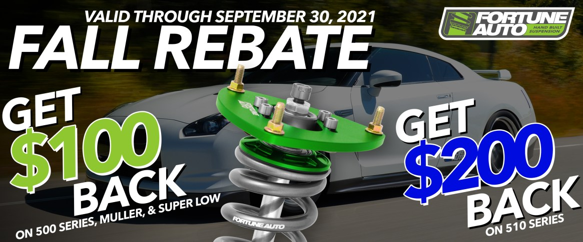 Fall Fortune Auto Rebate Form