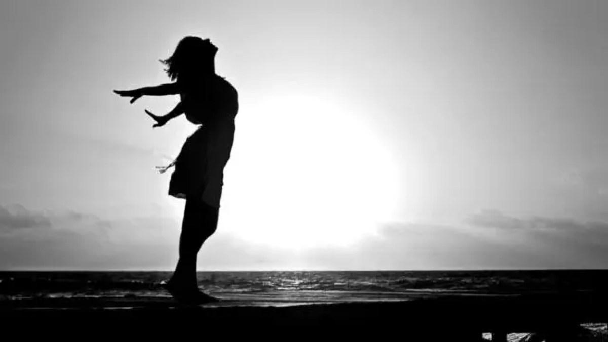 女性 健康的 希望 夕日 光