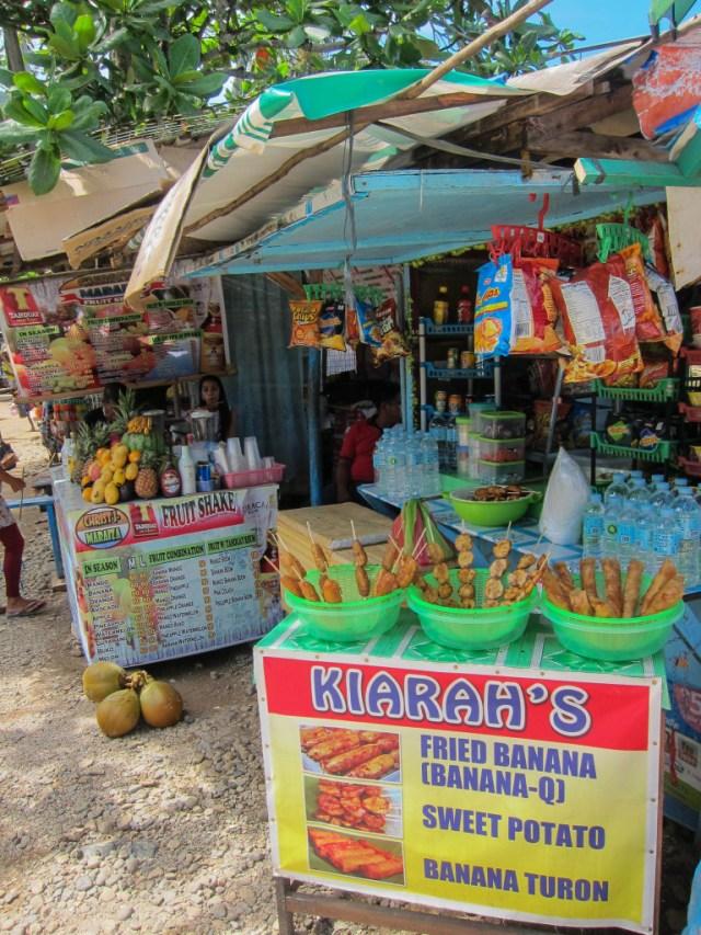 Vendor near Sabang Boat Terminal, Palawan Philippines