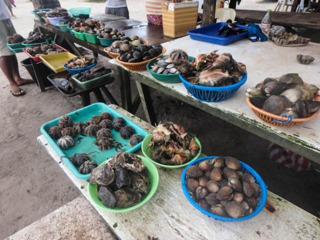 seafood vendor pandan island honda bay palawan philippines