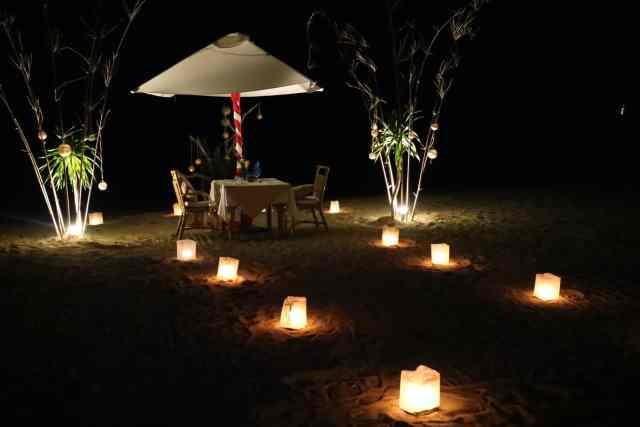 Romantic private dinner at Apulit Island, El Nido, Palawan, Philippines