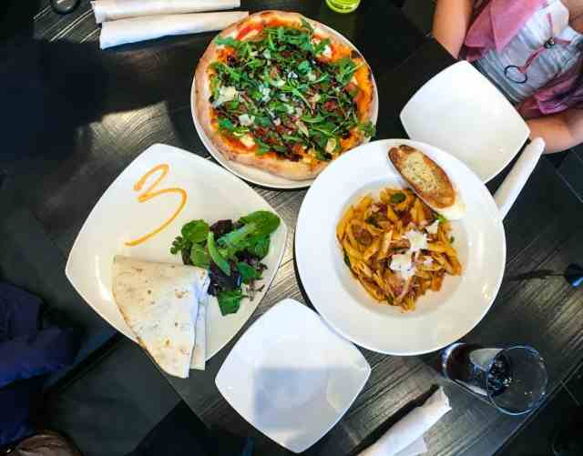 Pizza, pasta, piadina at Via Cibo, Calgary, Canada