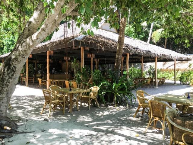 Restaurant at Entalula Island in El Nido, Palawan, Phlippines