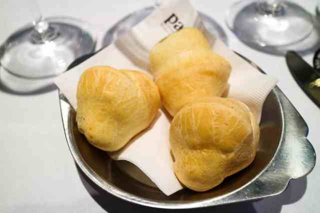 Pao de queijo at Pampa Brazilian Steakhouse, Calgary, Canada