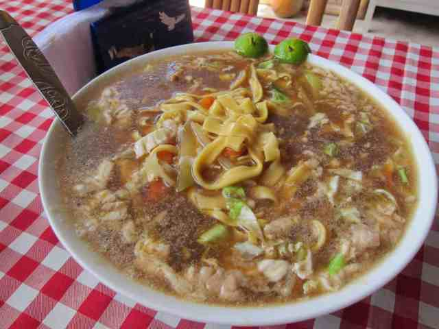 Pancit lomit from Tabing Dagat restaurant at Roxas, Palawan, Philippines