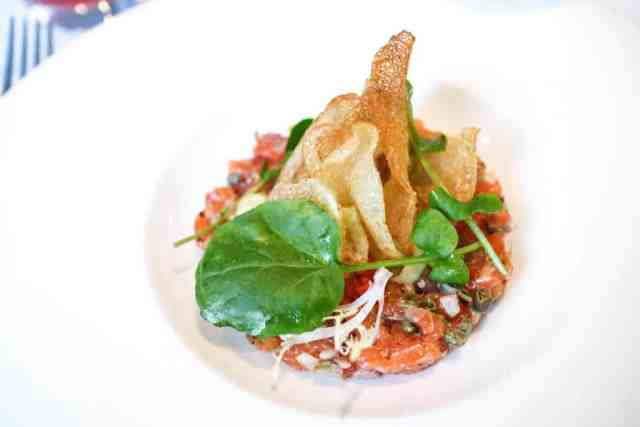 Trout tartare at Chef's Table, Calgary, Canada