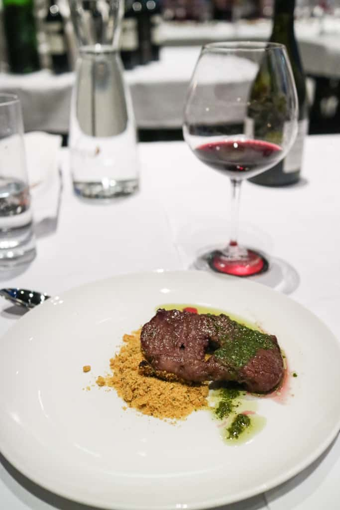 Rump steak from Argentine Winemaker Dinner at Pampa Vine & Dine