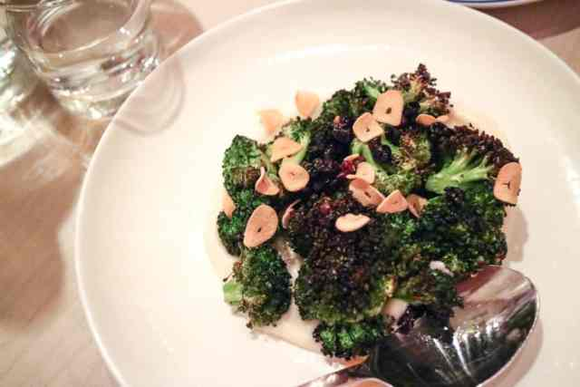 Charred broccoli from Ten Foot Henry, Calgary, Canada