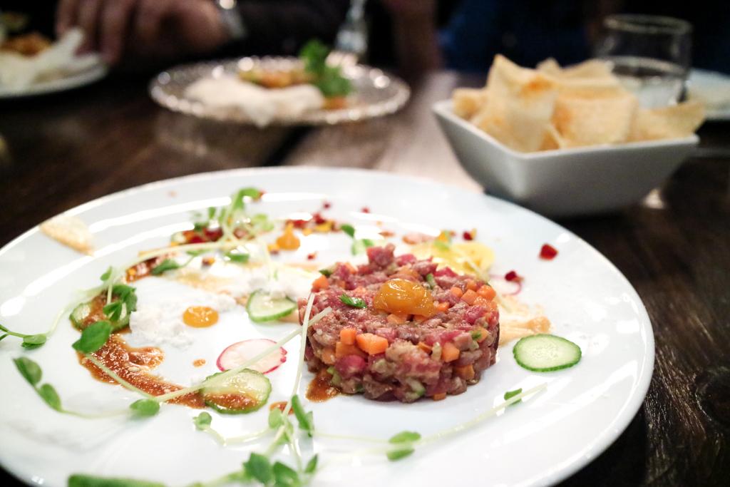 Bulgogi beef tartare from Workshop Kitchen & Culture Calgary