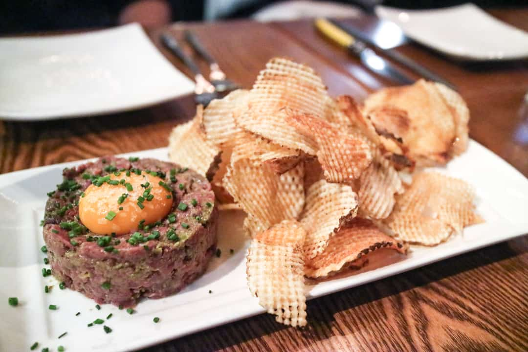 Modern Tartare from Modern Steak Calgary