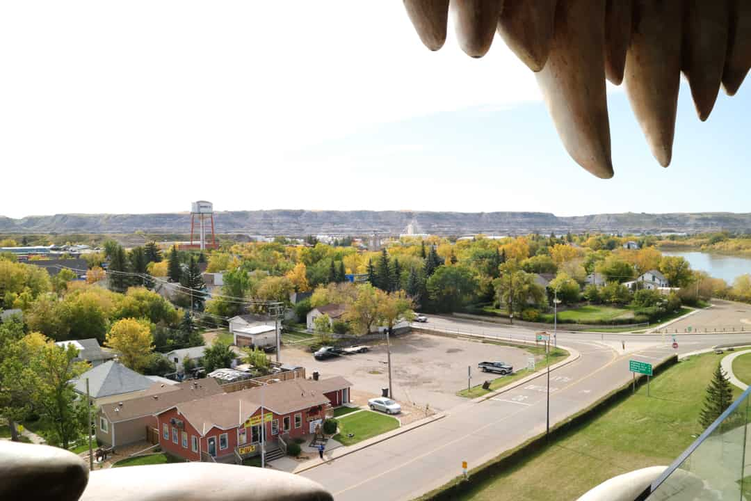View from World's Largest Dinosaur in Canadian Badlands (Drumheller), Alberta, Canada